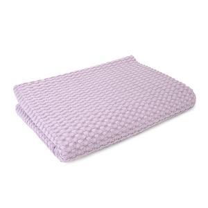 Κουβέρτα Πικέ Αγκαλιάς Μονόχρωμη 85x110cm Dimcol Μωβ