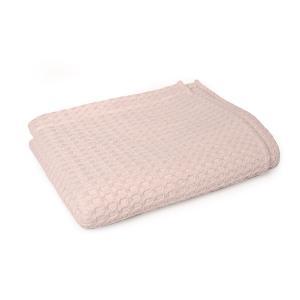 Κουβέρτα Πικέ Αγκαλιάς Μονόχρωμη 85x110cm Dimcol Ροζ