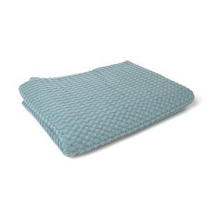 Κουβέρτα Πικέ Αγκαλιάς Μονόχρωμη 85x110cm Dimcol Πετρόλ