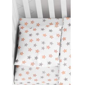 Σεντόνι Βρεφικό με Λάστιχο 70x140+15cm cm Dimcol Star 103