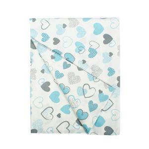 Πάπλωμα Κούνιας 120x160cm Dimcol 120x160cm Hearts 08 Blue