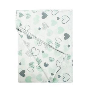Πάπλωμα Κούνιας 120x160cm Dimcol Hearts 10 Green