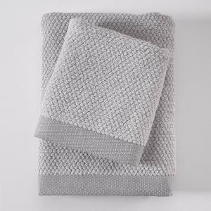 Πετσέτα Προσώπου 50x90cm Rythmos Quitto Spa 02 Silver Βαμβακερή
