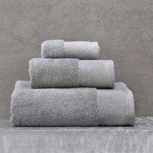 Πετσέτες Σετ 3 Τεμάχια Σε Κουτί Rythmos Caresse Γκρι Βαμβακερές