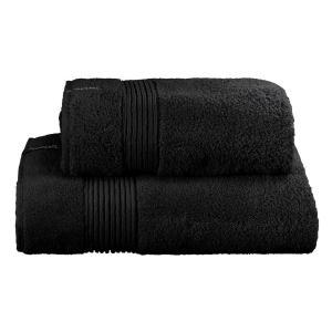 Πετσέτα Μπάνιου 90x160cm Guy Laroche Microcell Spa Black Βαμβακερή