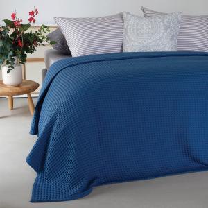Κουβέρτα Μονή Πικέ 170x240cm Melinen Patmos Blue Βαμβακερή