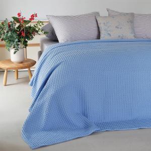 Κουβέρτα Μονή Πικέ 170x240cm Melinen Patmos Light Blue Βαμβακερή
