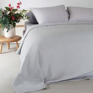 Κουβέρτα Υπέρδιπλη Πικέ 230x240cm Melinen Patmos Silver Βαμβακερή