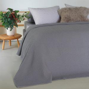 Κουβέρτα Υπέρδιπλη Πικέ 230x240cm Melinen Patmos Dark Grey Βαμβακερή