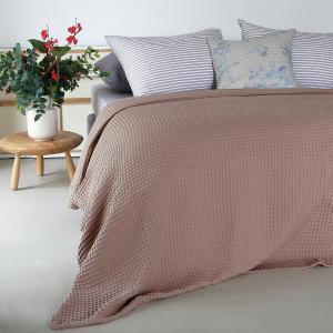 Κουβέρτα Μονή Πικέ 170x240cm Melinen Patmos Choco Βαμβακερή