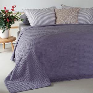 Κουβέρτα Υπέρδιπλη Πικέ 230x240cm Melinen Patmos Dark Lilac Βαμβακερή