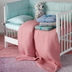 Κουβέρτα Πικέ Κούνιας 100x150cm Melinen Patmos Kids Apple Βαμβακερή
