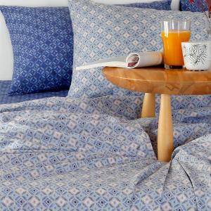 Μαξιλαροθήκες Ζεύγος Κατωσέντονου 50x70cm Melinen Alexa Blue Βαμβακερές