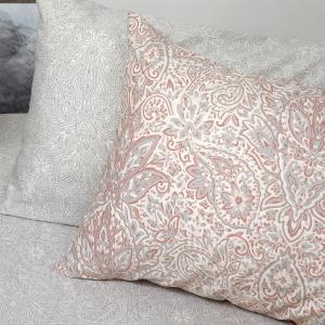 Μαξιλαροθήκες Ζεύγος Κατωσέντονου 50x70cm Melinen Lorca Grey Βαμβακερές
