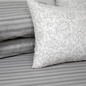 Μαξιλαροθήκες Ζεύγος Κατωσέντονου 50x70cm Melinen Lizzie Grey Βαμβακερές