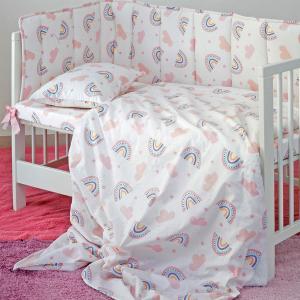 Μαξιλαροθήκη Βρεφική 35x45cm Melinen Rainbow Girl Βαμβακερή