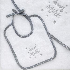 Σαλιάρα Βρεφική 25x25cm Melinen Dream More Βαμβακερή