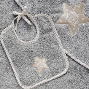Σαλιάρα Βρεφική 25x25cm Melinen Little Star Βαμβακερή