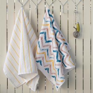 Πετσέτες Κουζίνας 2τμχ 40x60cm Melinen Zig-Zag Βαμβακερή