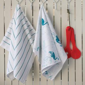 Πετσέτες Κουζίνας 2τμχ 40x60cm Melinen Flamingo Βαμβακερή