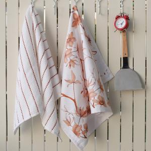 Πετσέτες Κουζίνας 2τμχ 40x60cm Melinen Floral Βαμβακερή