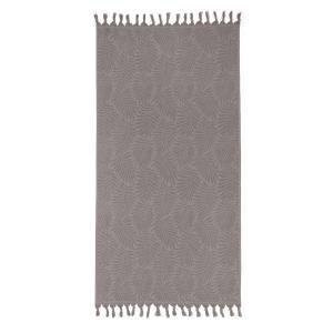 Πετσέτα Θαλάσσης 90x180cm Melinen Cuba Grey Βαμβακερή