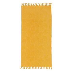 Πετσέτα Θαλάσσης 90x180cm Melinen Cuba Mustard Βαμβακερή