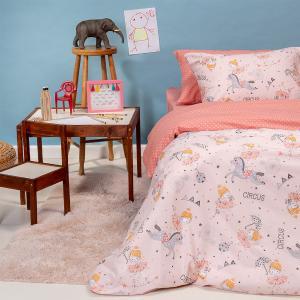 Πάπλωμα Παιδικό 160x240cm Melinen Circus Girl Pink Εξ: Βαμβάκι-Εσ: Πολυεστέρας