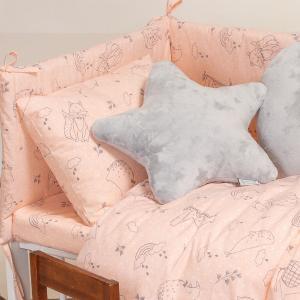 Μαξιλαροθήκη Βρεφική 35x45cm Melinen Happy Pink Βαμβακερή