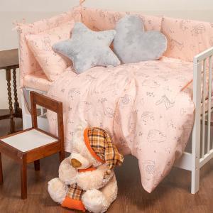 Πάνα Αγκαλιάς Βρεφική 85x85cm Melinen Happy Pink Βαμβακερή