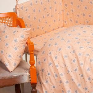 Μαξιλαροθήκη Βρεφική 35x45cm Melinen Mini Stars Rose Βαμβακερή