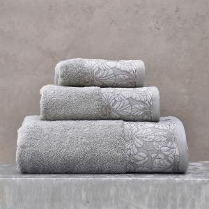 Πετσέτες Σετ 3 Τεμάχια Σε Κουτί Rythmos Mallory Γκρι Βαμβακερές
