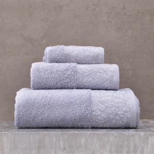 Πετσέτες Σετ 3 Τεμάχια Σε Κουτί Rythmos Mallory Σιελ Βαμβακερές