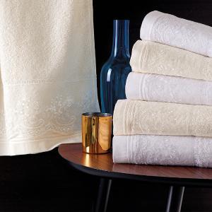 Πετσέτες Νυφικές Σετ 3τχμ Rythmos Katherina Εκρού Βαμβακερές