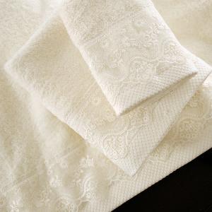 Πετσέτες Νυφικές Σετ 3τχμ Rythmos Nena Εκρού Βαμβακερές