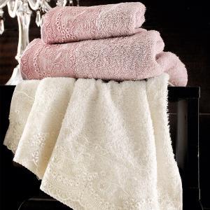 Πετσέτες Νυφικές Σετ 3τχμ Rythmos Shiraz Εκρού Βαμβακερές