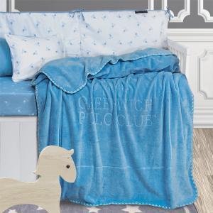 Κουβέρτα Κούνιας Βρεφική Velour 110x140cm Polo Club 2951 Polyester