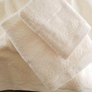 Πετσέτες Νυφικές Σετ 3τχμ Rythmos Helga Εκρού Βαμβακερές
