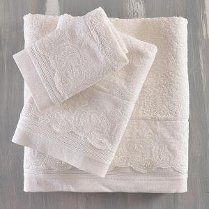Πετσέτες Νυφικές Σετ 3τχμ Rythmos Regatta Εκρού Βαμβακερές