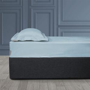 Σεντόνι King Size Με Λάστιχο 180x200+35cm Polo Club Solid Percale 2202 Σιελ Βαμβακι-Περκάλι