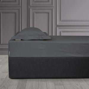 Σεντόνι King Size Με Λάστιχο 180x200+35cm Polo Club Solid Percale 2203 Γκρι Βαμβακι-Περκάλι