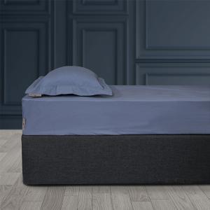 Σεντόνι King Size Με Λάστιχο 180x200+35cm Polo Club Solid Percale 2206 Μπλε Βαμβακι-Περκάλι