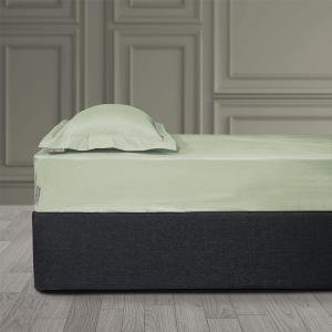 Σεντόνι King Size Με Λάστιχο 180x200+35cm Polo Club Solid Percale 2207 Βεραμάν Βαμβακι-Περκάλι