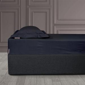 Σεντόνι King Size Με Λάστιχο 180x200+35cm Polo Club Solid Percale 2210 Μαύρο Βαμβακι-Περκάλι
