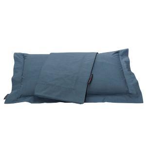 Μαξιλαροθήκες Ζεύγος 50x70+7cm Polo Club Premium Solid Percale 2206 Μπλε Ραφ