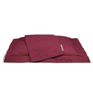Μαξιλαροθήκες Ζεύγος 50x70+7cm Polo Club Premium Solid Percale 2212 Κόκκινο