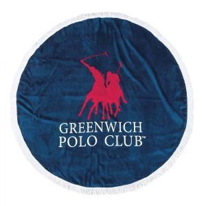 Πετσέτα Θαλάσσης Στρογγυλή Φ160cm Polo Club Essential 2824 Βαμβακερή