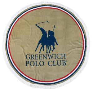 Πετσέτα Θαλάσσης Στρογγυλή Φ160cm Polo Club Essential 2825 Βαμβακερή