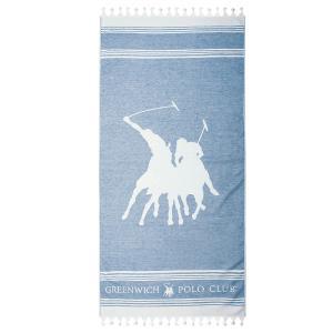 Πετσέτα Θαλάσσης 80x180cm Polo Club Essential 3524 Βαμβακερή