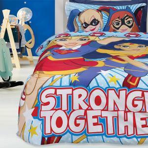 Σεντόνια Παιδικά Μονά Σετ 160x260cm Das Home Super Hero Girls 5005